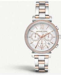 Michael Kors - Mk6558 Sofie Two-tone Stainless Steel Chronograph Watch - Lyst