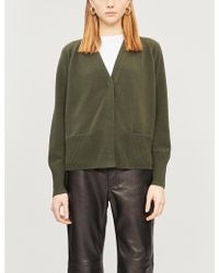 Vince - Relaxed-fit Wool And Cashmere-blend Cardigan - Lyst