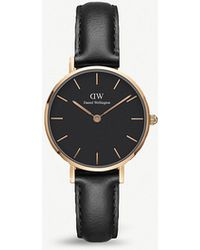 Daniel Wellington - Dw00100224 Classic Petite Sheffield Rose Gold-plated Leather Strap Watch - Lyst