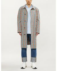 Vivienne Westwood - Checked Cotton Trench Coat - Lyst
