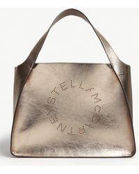 c8d6bb5486bb Stella McCartney - Circle Logo Metallic Small Tote - Lyst