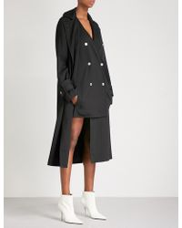 Dion Lee - Soft Twill Trench Coat - Lyst
