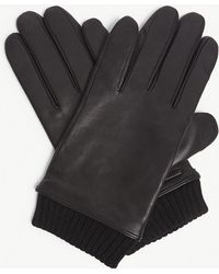 BOSS - Hewen Touch-screen Leather Gloves - Lyst