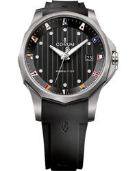 Corum - 403.100.04/f371 An10 Admirals Cup Titanium And Rubber Strap Watch - Lyst