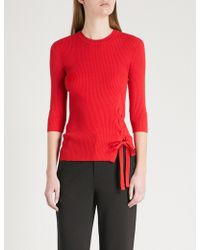 Mo&co. | Tie-side Knitted Top | Lyst