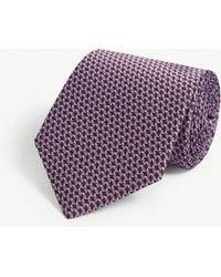 Lanvin - Geometric Triangle Silk Tie - Lyst
