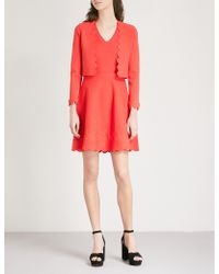 Claudie Pierlot | Scalloped Stretch-knit Mini Dress | Lyst