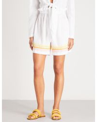 Lisa Marie Fernandez - Ric-rac-trimmed Linen Shorts - Lyst