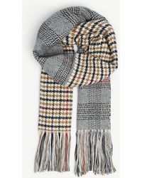 Maje - Knitted Checked Scarf - Lyst