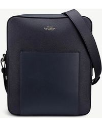Smythson - Panama Leather Reporter Bag - Lyst