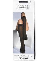Wolford - Velvet De Luxe 50 Knee–highs - Lyst