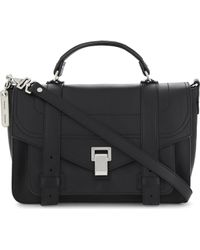 Proenza Schouler - Ps1 Medium Grained Leather Satchel - Lyst