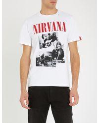 Replay - Nirvana-print Cotton-jersey T-shirt - Lyst