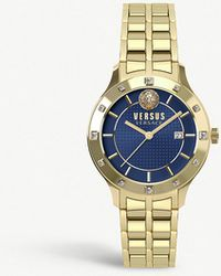 Versus - Sp4603-0018 Brackenfell Gold-toned Stainless Steel Watch - Lyst