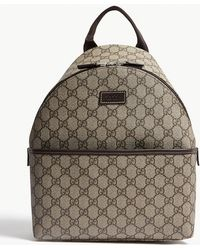 4240c08f98be80 Gucci Beige/ GG Supreme Canvas Trolley Backpack Bag in Blue - Lyst
