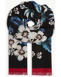 Diane von Furstenberg - Bolan Floral Linen-blend Scarf - Lyst