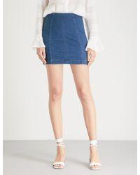 Free People - Modern Femme Panelled Denim Skirt - Lyst