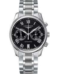 Longines - L2.629.4.51.6 Master Collection Stainless Steel Chronograph Watch - Lyst