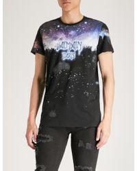 Balmain - Inprime Cotton-jersey T-shirt - Lyst