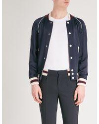 Sandro - Satin Collegiate Jacket - Lyst