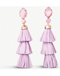 Kendra Scott - Denise Rose Gold Statement Earrings In Lilac Mother Of Pearl - Lyst