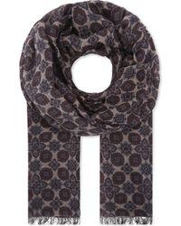 Lardini - Printed Wool Scarf - Lyst