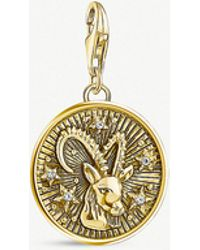 Thomas Sabo - Capricorn Zodiac 18ct Yellow Gold-plated Charm - Lyst