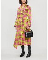 Aganovich - Checked Paper Coat - Lyst