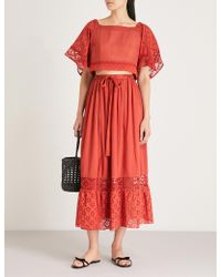 Free People - Darling Cotton Top And Skirt Co-ord - Lyst