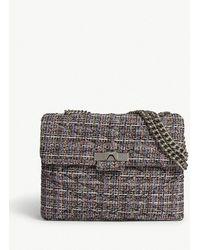 Kurt Geiger - Mayfair Tweed Shoulder Bag - Lyst