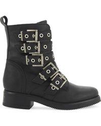 ALDO - Waw Leather Biker Boots - Lyst