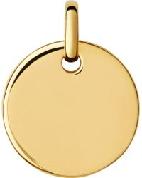 Links of London   Narrative Yellow-gold Vermeil Small Disc Pendant   Lyst