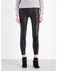 J Brand - L8001 Super-skinny Mid-rise Leather leggings - Lyst