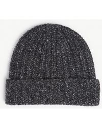 Johnstons - Donegal Cashmere Rib-knit Hat - Lyst