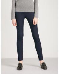 JOSEPH - High-rise Slim-fit Stretch-gabardine Leggings - Lyst