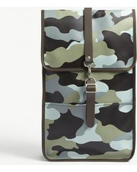 Rains - Camouflage Print Rubberised Backpack - Lyst
