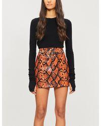 Jaded London - Snakeskin-print Pvc Skirt - Lyst