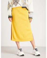 Pringle of Scotland - Side-slit Cashmere Skirt - Lyst