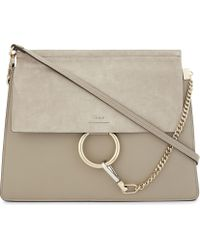 Chloé | Faye Suede And Leather Satchel | Lyst