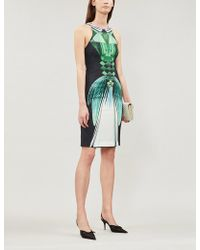 Mary Katrantzou - Lalic Perfume Print Crepe Midi Dress - Lyst