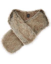 Helen Moore - Ladies Brown Everyday Essentials Classic Faux-fur Loop Scarf - Lyst