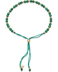 Astley Clarke - Biography Malachite 18ct Gold-plated Beaded Bracelet - Lyst