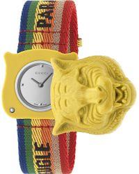 Gucci - Ya146410 Le Marche Des Merveilles - Secret Fabric Strap Watch - Lyst