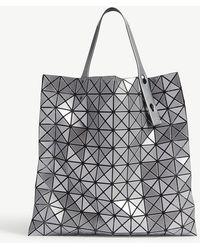 784f1bb758 Bao Bao Issey Miyake - Bao Issey Miyake Silver Prism Metallic Tote Bag -  Lyst