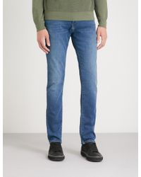 J Brand - Kane Tapered French-terry Jeans - Lyst