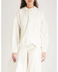 Renli Su - Textured Wool-blend Jacket - Lyst