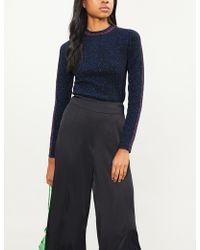 Ba&sh - Dipsy Metallic-knit Jumper - Lyst