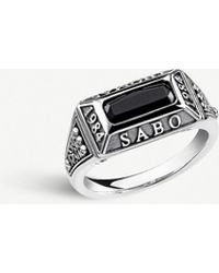 Thomas Sabo - Arizona Sterling Silver And Onyx Ring - Lyst