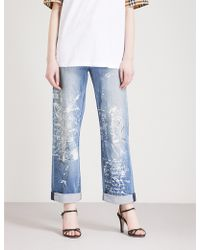 Burberry - Graffiti Straight High-rise Jeans - Lyst