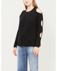 Zoe Jordan - Galileo Cut-out Sleeve Wool And Cashmere-blend Jumper - Lyst